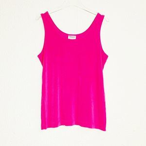 Chicos Travelers Top Pink Tank Shirt 2 Large